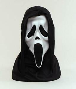 Scream Masque Blanc, Déguisement Halloween Caoutchouc Masque Horreur