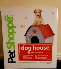 """New! Dog House with Toy Bone for home or travel (small breeds) 16"""" x 16.5"""" x 18"""