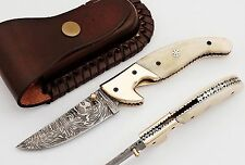 Damassé couteau de poche, Damascus folding knife, 4227#10
