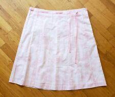 J Crew Womens Skirt Pink Floral Pleated 100% Cotton Size 12