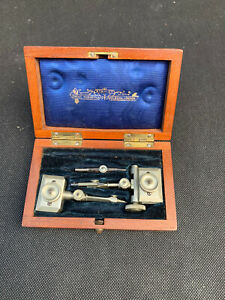 Antique Stanley Boxed Trammel Head Set For Beam Compass