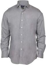 Polo Ralph Lauren Classic Fit Spread Collar Stretch Dress Shirt-Gray-Medium