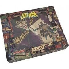 DC Comics Vintage Batman Joker Character Wallet Great Gift Stocking Filler.