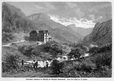 Sisi, Sissi, Empress of Austria, hunting castle in mürzsteg, Orig. - Wood Engraving 1879
