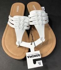 3161fab92a8 Womens Sandals Sonoma Good For Life Thong Toe Shoe Flip Flop Type White SZ  11 XL