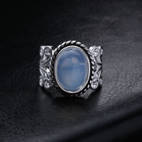 Rainbow Moonstone Ring Solid Silver Plated Handmade Jewelry Size 6-10