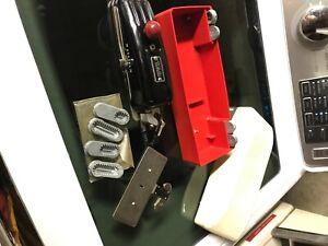 White Greist Buttonhole Worker Magic Key Sewing Machine Attachment & Manual Vtg.
