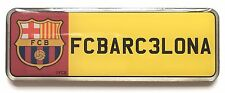 Large FC Barcelona Football Club Number Plate Enamel Lapel Pin Badge Official