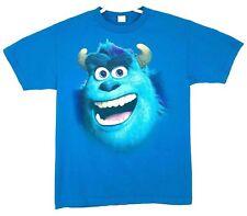 Pixar Monsters University Inc T-Shirt Sully Size Medium M Big Face Blue Print