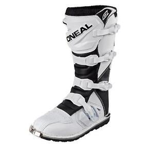 O'Neal Kids Rider Boot Weiß KINDER MX Stiefel Moto Cross Super Motorrad Enduro