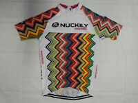 Nuckily Cycling Jersey Bike Shirt White - Women's Size XL