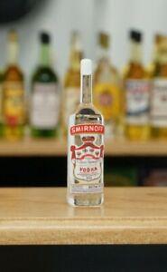 Miniature Dollhouse Accessories Handmade Glass Bottle of Smirnoff Vodka 1:12th