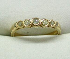 Lovely 18 carat Gold 0.25 carat Seven Stone Lemon Diamond Half Eternity Ring