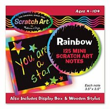 ^Melissa & Doug Rainbow Mini Scratch Art Notes (Box of 125 )