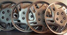 """Set of 4-Gloss Gray-5 Lug-Easy On/Off-16"""" Universal Wheel Covers/Hub Caps"""