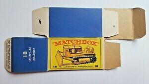 Vintage Lesney Matchbox Caterpillar Bulldozer No 18 -   Box Only