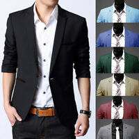 Trendy Men Long Sleeve Slim Fit One Button Suit Blazer Casual Coats Jacket Tops