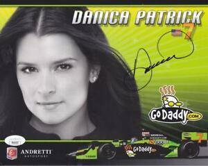 DANICA PATRICK Signed 8X10 Color Poster Racing Formula 1 JSA PP40537
