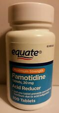 2x Maximum Strength Famotidine Tablets 20mg, 200ct, Acid Reducer, By Equate