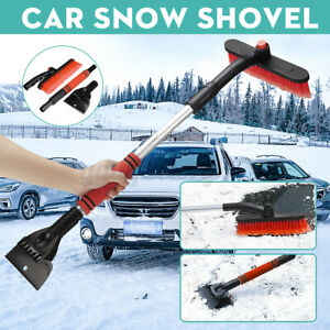 Telescopic Windshield Scraper Winter Snow Shovel Car Removal Brush Cleaning Tool
