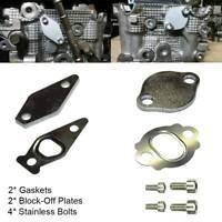 SR Billet Air Pump Delete Kit Block Off Plates for WRX Legacy GT /& FXT BLK STI