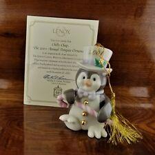2001 Annual Lenox Chilly Chap Penguin Christmas Tree Ornament Coa