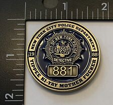 New York Police Department Nypd Die Hard Challenge Coin Yippee Ki-Yay Christmas