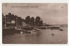 Parade & RYS From Pier Cowes IOW 1912 RP Postcard 414a