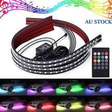 4x RGB 5050LED Car Strip Underglow body Neon Light Kit Sound Music Control