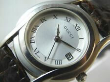 GOOD!! GUCCI 5500L SILVER DATE WOMEN'S VINTAGE SWISS MADE WATCH