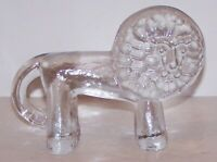 FABULOUS KOSTA BODA SWEDEN ART GLASS ZOO SERIES LION FIGURINE/PAPERWEIGHT