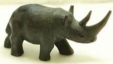 Hand Carved Wood Rhinoceros Textured Wood Rhino - Free Shipping