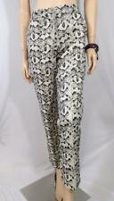 SUSSAN Black Metallic Print Pants Sz 10