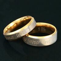 Men Women Titanium Steel Forever Love Ring Promise Couple Wedding Band Rings