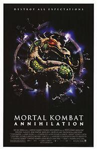 MORTAL KOMBAT ANNIHILATION (1997) ORIGINAL MOVIE POSTER  -  ROLLED