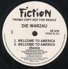 DIE WARZAU Welcome To America 12 INCH VINYL UK Fiction 1989 4 Track Promo B/W