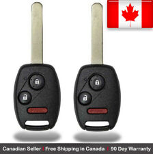 2x New Replacement Keyless Entry Remote Key Fob For Honda Fit Odyssey Ridgeline