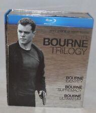 THE BOURNE TRILOGY Identity Supremacy Ultimatum Blu-ray 3-Disc Box Set