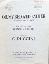 OH, MY BELOVED FATHER. -  PUCCINI. -  SHEET MUSIC