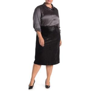 NWOT $45 Everleigh Black Sequin Knee-Length Pencil Skirt Sz 3X