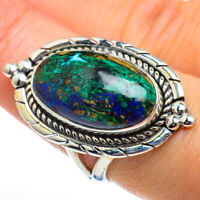Chrysocolla 925 Sterling Silver Ring Size 8.25 Ana Co Jewelry R46808F
