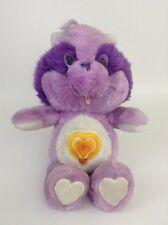 Vintage 80's Care Bears Cousins Purple Raccoon Bright Heart Plush Stuffed Animal