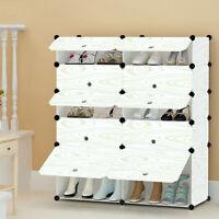 20 Pairs Shoe Interlocking Cube Storage Shoe Rack Stand Organizer Clothes Holder