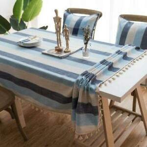 Stripe Waterproof Kitchen Table Cloth Tablecloth Rectangular Dining Table Cover