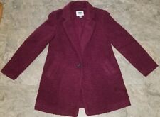 Old Navy Boucle Coat Dress Jacket Maroon Wine XS Petite NEW NWOT