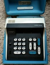 Panasonic 805 Electric Calculator With Blue Case Vintage