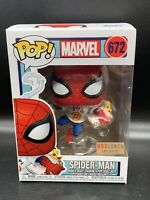 Funko Pop! MARVEL Box Lunch Exclusive SPIDER-MAN with Pizza #672, New MINT