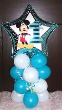 """18"""" FOIL BALLOON  TABLE DECORATION DISPLAY - 1ST BIRTHDAY AGE 1 - MICKEY MOUSE"""