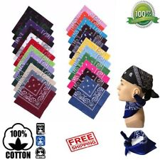 100% COTTON PAISLEY BANDANA HEADBAND HEAD WEAR TIE WRAP BAND SCARF NECK WRIST