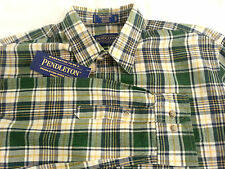 NWT PENDLETON Men's Long Sleeve Plaid THOMAS SHIRT FITTED Size Small S Cotton